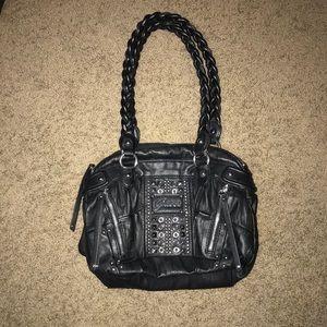 Guess Leather Studded Shoulder Bag